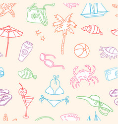 pattern beach holiday vector image