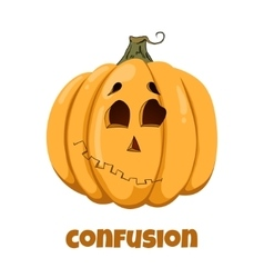 Pumpkin for Halloween Emotions Confusion vector