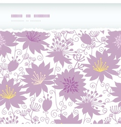 Purple shadow florals horizontal torn seamless vector image vector image