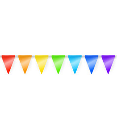 rainbow garland vector image