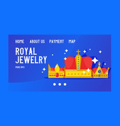 royal jewelry banner web design vector image