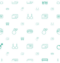 Sale icons pattern seamless white background vector