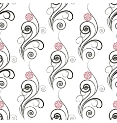 Seamless floral pattern with vetch vector image