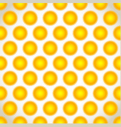 seamless repeatable pattern background with sun vector image