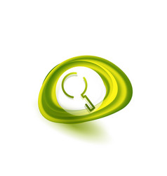 search magnifyier web button magnify icon modern vector image