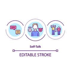 Self-talk concept icon vector