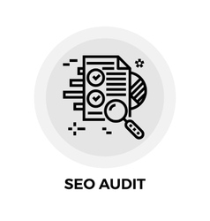 SEO Audit Line Icon vector image