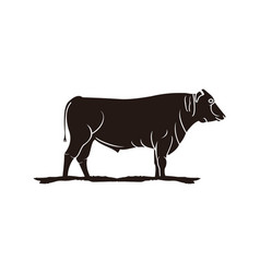 Slaughter cattle beef logo vector