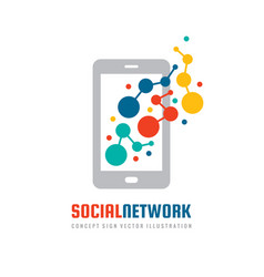 social network mobile application smart phone vector image