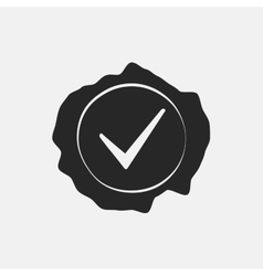 Stamp Check Mark vector image
