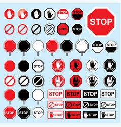 stop sign warning danger symbol vector image