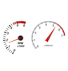 Tachometer scales vector