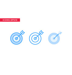 target icon in line outline filled outline and vector image