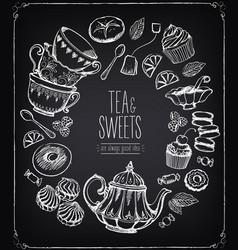 tea ceremony llustration tea time tea and set vector image