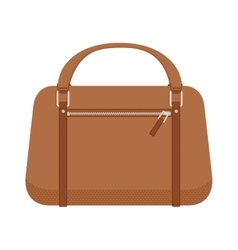 Terracotta women leather handbag fashion flat vector image