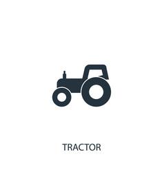 Tractor icon simple gardening element symbol vector