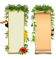 tropical boards vector image