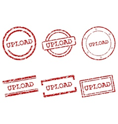 Upload stamps vector image