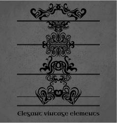 Vintage design elements on a gray background vector