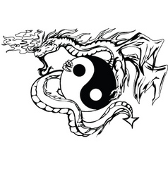 yinyang dragon vector image