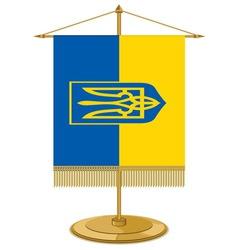 Zastavice na stolu ukraina vector