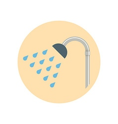Colorful Flat Design Showerhead icon vector image vector image
