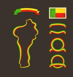 Colors of Benin vector image vector image