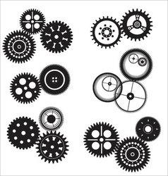 Gear and cogwheel set vector image vector image
