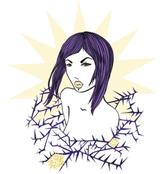 abstract woman drawing vector image vector image