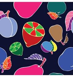 negative fruit print vector image vector image
