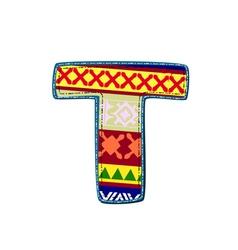 ornament t retro vector image