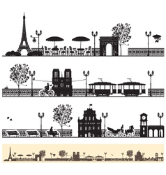 Paris streets vector
