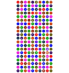 set of colorful mobile icons vector image vector image