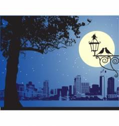 urban night scene idyllic vector image