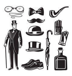 Victorian style monochrome for vector