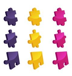 Jigsaw vector image vector image