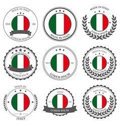 Made in Italy seals badges vector image