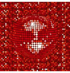 mosaic disco background vector image