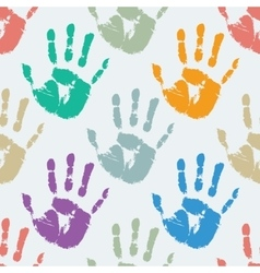 Prints of hands seamless pattern vector image