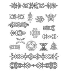 Celtic ornaments and embellishments vector image vector image