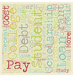 Eight Ways To Pay Off Student Loan Debt text vector image vector image