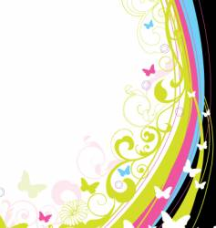 floral background element vector image vector image