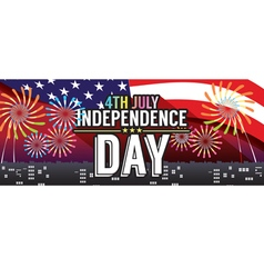Independence Day 1500x600 Pixel Banner vector image vector image