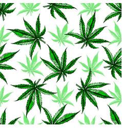Marijuana leaf pattern vector
