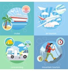 Mountain cruise air tourism vector image vector image