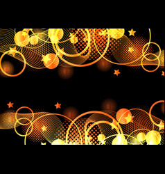 orange and black abstract background vector image