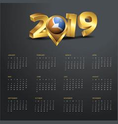 2019 calendar template tierra del fuego province vector