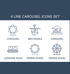 6 carousel icons vector