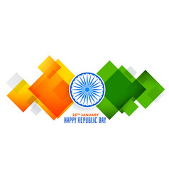 Abstract geometric indian flag for republic day vector