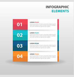 abstract label business infographics elements vector image